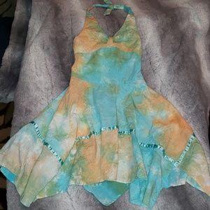 ADORABLE girls size 4 embroidered halter dress